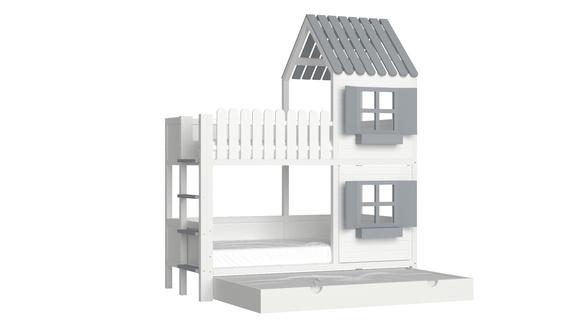 Łóżko piętrowe domek ANNDY DBP, (1) - Łóżka piętrowe