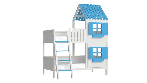 Łóżko piętrowe domek ANNDY DFS, (1) - Łóżka piętrowe