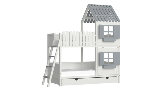 Łóżko piętrowe domek ANNDY DBS, (1) - Łóżka piętrowe