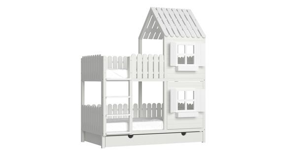 Łóżko piętrowe domek ANNDY DFP, (1) - Łóżka piętrowe