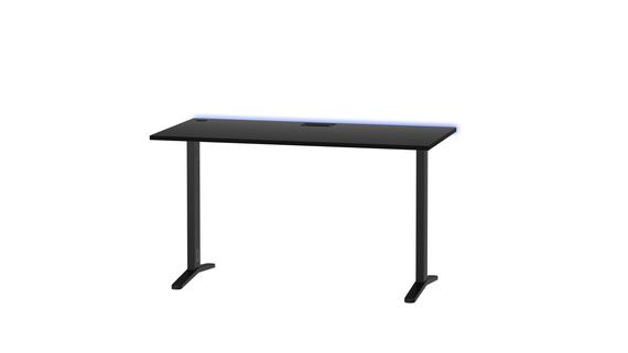 Biurko gamingowe Graphit LED z regulacją wysokości, (1) - Bliźniacze