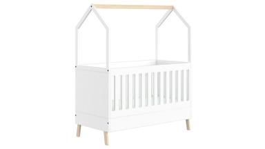 Białe łóżeczko niemowlęce Alice Plus